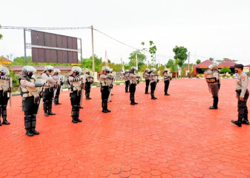 Tingkatkan Kemampuan, Sat Shabara Polres Bintan Gelar Latihan Dalmas