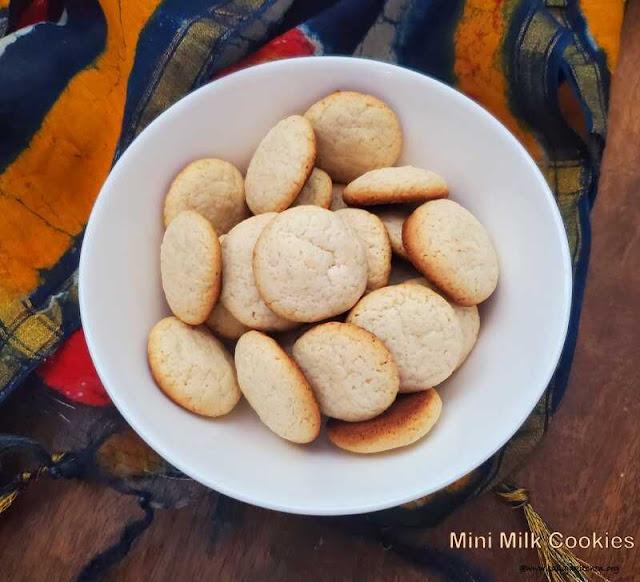 images of Mini Milk Cookies / MIni Milk Cookies Without Eggs / Eggless Mini Milk Cookies / Easy Mini Milk Cookies Recipe