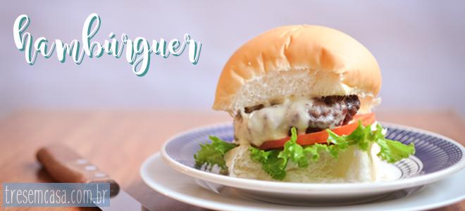 Hambúrguer receita