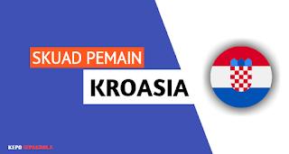 daftar susunan nama pemain timnas Kroasia terbaru