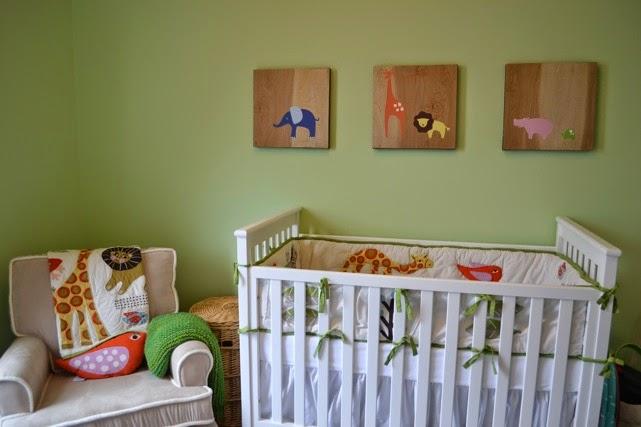 Cuarto de bebé color verde