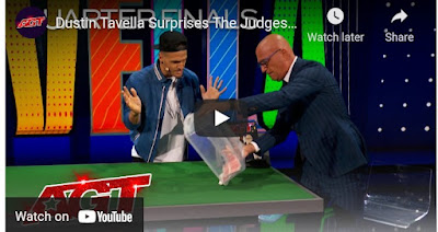 Magician Dustin Tavella performs in AGT