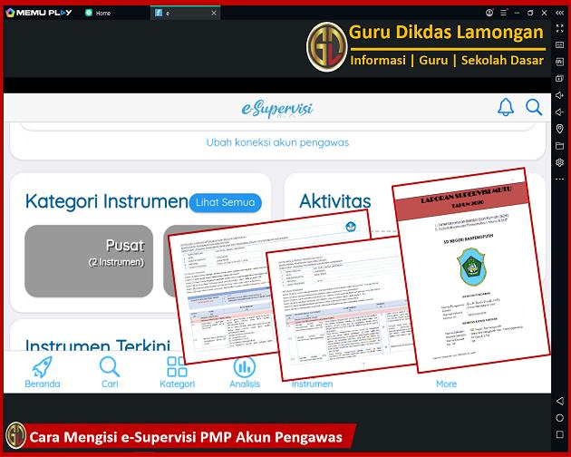 Cara Mengisi e-Supervisi PMP Akun Pengawas