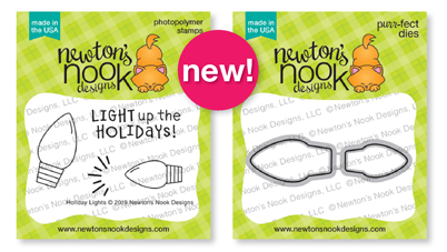 Holiday lights | Light Bulbs Mini Stamp Set by Newton's Nook Designs #newtonsnook