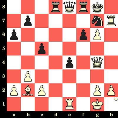 Les Blancs jouent et matent en 4 coups - Owen Hindle vs Juan Bautista Gonzalez, Tel Aviv, 1964