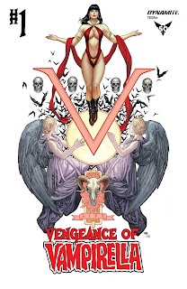 Cover B of Vengeance of Vampirella #1 by Frank Cho and Sabine Rich