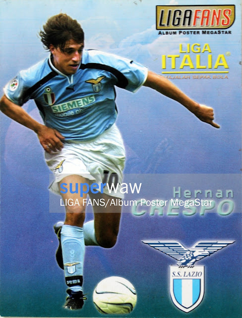 Postcard Hernan Crespo (Lazio 2000)
