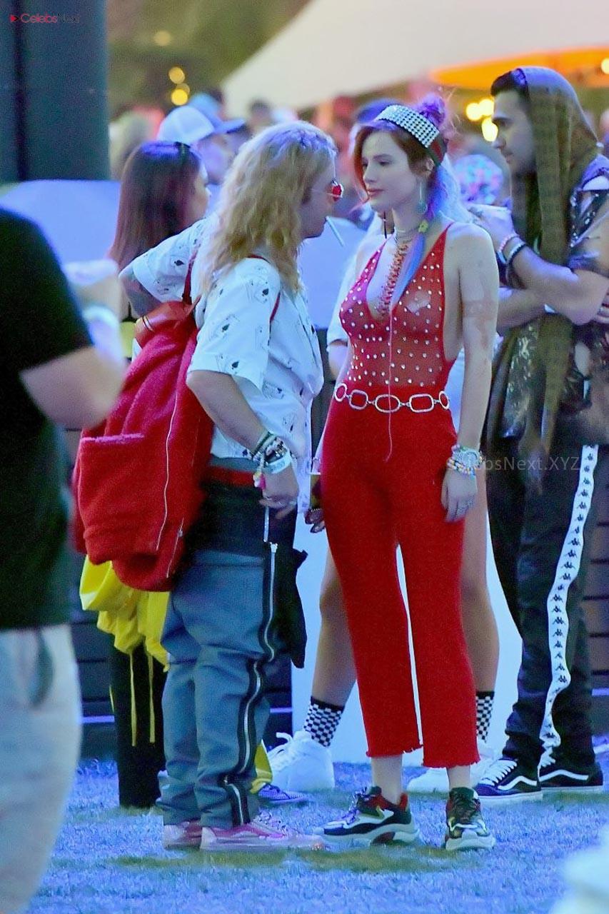 Bella Throne Full Transparent Glittering Body Tight Gown Exposing white Thongs Small bra