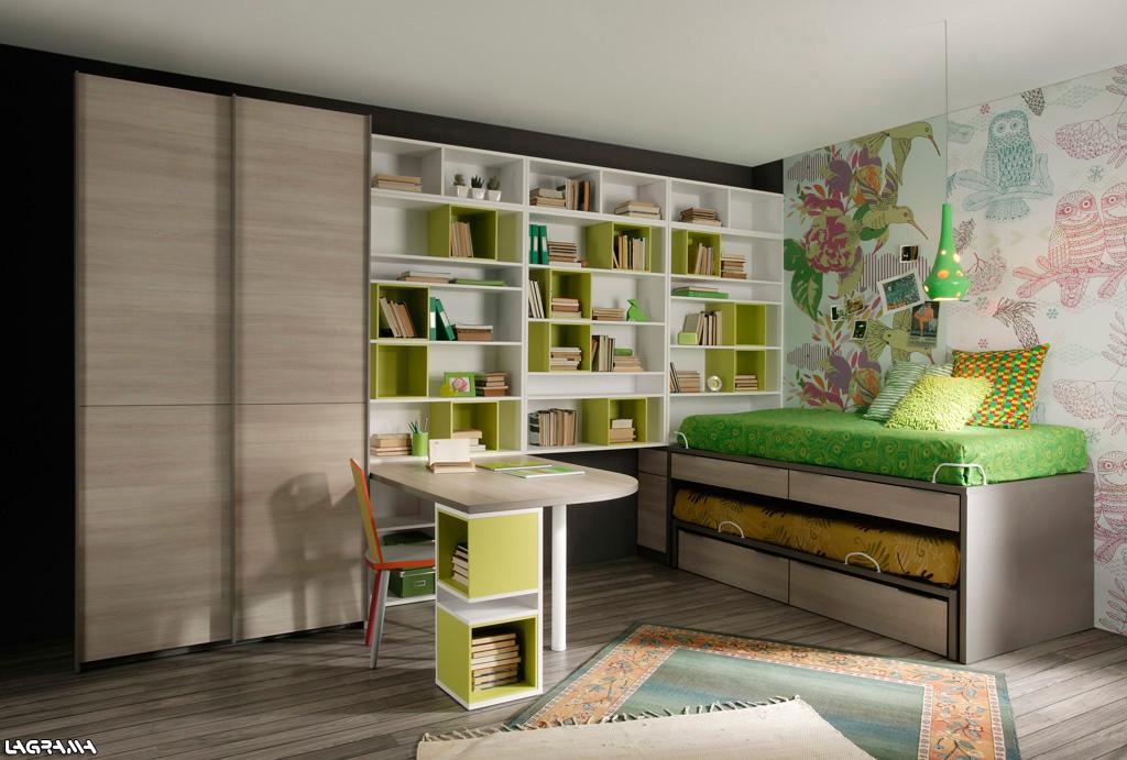 Dormitorios juveniles para adolescentes de 12 a os 13 a os - Estanterias para habitaciones juveniles ...