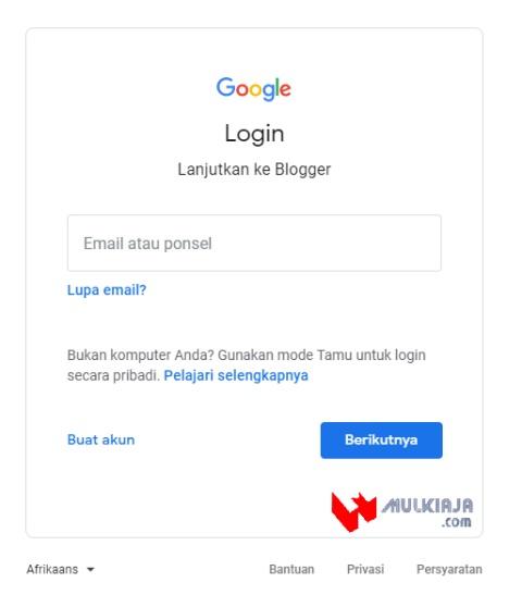 Login Gmail terbaru, cara buat blog