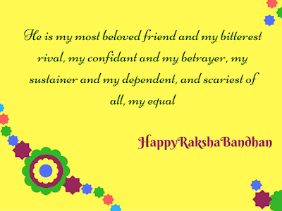Rakshabandhan quotes for sister