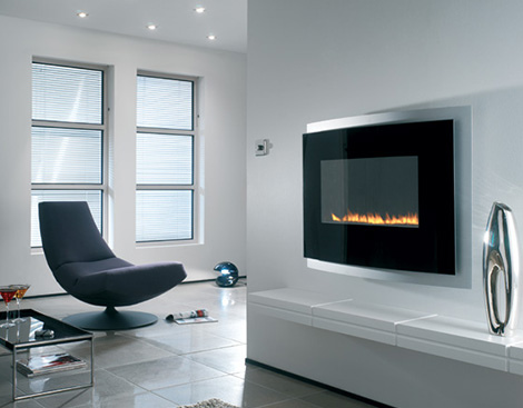 Modern fireplace for exotic living room design - Architecture
