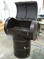 Parrillas hechas con tanques de acero reciclado