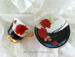 Porcelanas pintada a mão