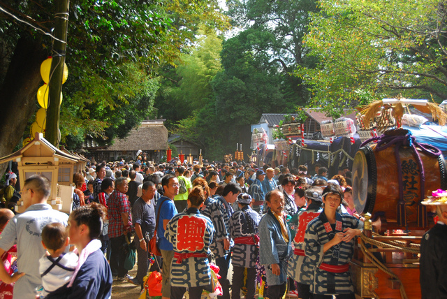 Ishioka Festival at Hitachinoguu Soutaisha Shrine, Ishioka City, Ibaraki Pref.