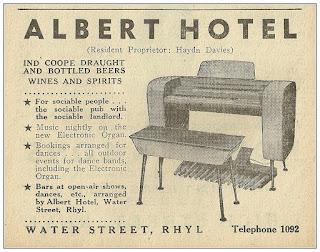 Albert Hotel, organ
