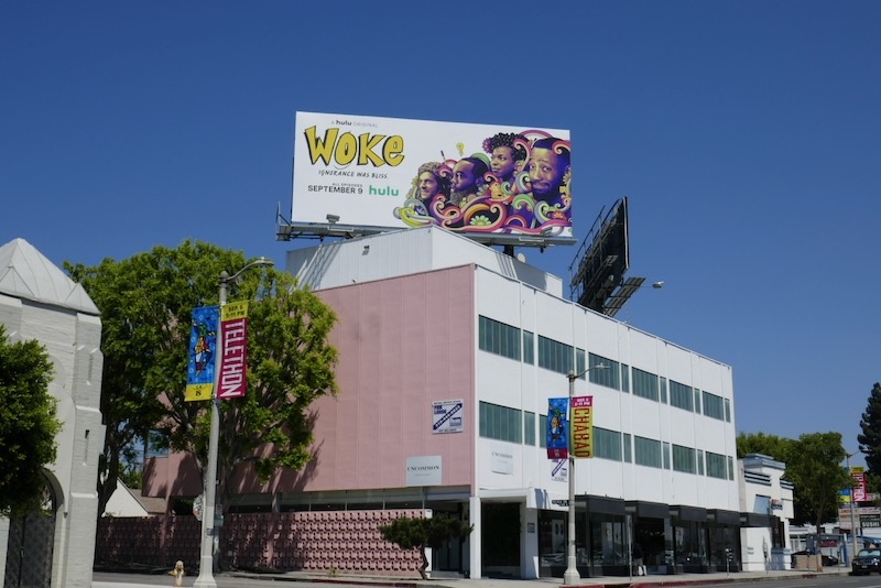 Woke TV series billboard