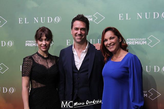 Cristina Plazas, Oriol Tarrasón y Natalia Verbeke en la presentación de 'El Nudo'