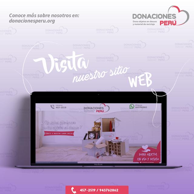 Visita nuestro sitio web - Donaciones Perú