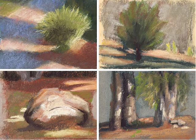 plein air pastels collage