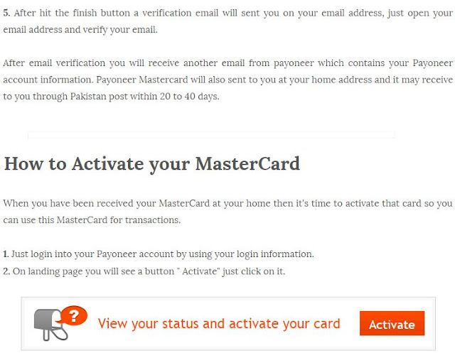 3/24/2016  How to Create Payoneer Account and Get MasterCard With Bonus 25$ In Pakistan