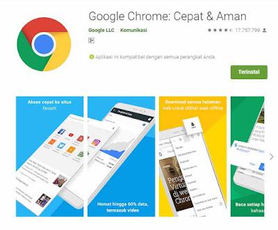 Chrome adalah aplikasi wajib di HP android