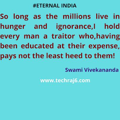 Eternal India Quotes By Swami Vivekananda