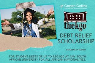 Canon Collins Thekgo Debt Relief Scholarship 2020 [African Nationalities]