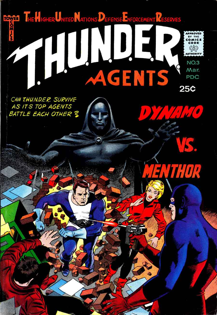 Thunder Agents v1 #3 tower silver age 1960s comic book cover art by Wally Wood