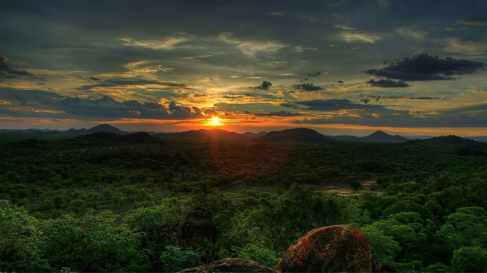 HD Sunset In Africa Wallpapers