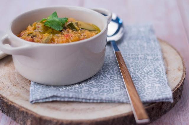 Lentejas con Verduras al Curry de cocción rápida www.recomiendoblog.com