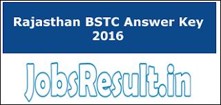 Rajasthan BSTC Answer Key 2016
