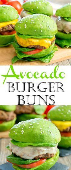 Avocado Burger Buns