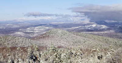 View of the High Peaks from Gore Mountain, Sunday 12/07/2014.  The Saratoga Skier and Hiker, first-hand accounts of adventures in the Adirondacks and beyond, and Gore Mountain ski blog.