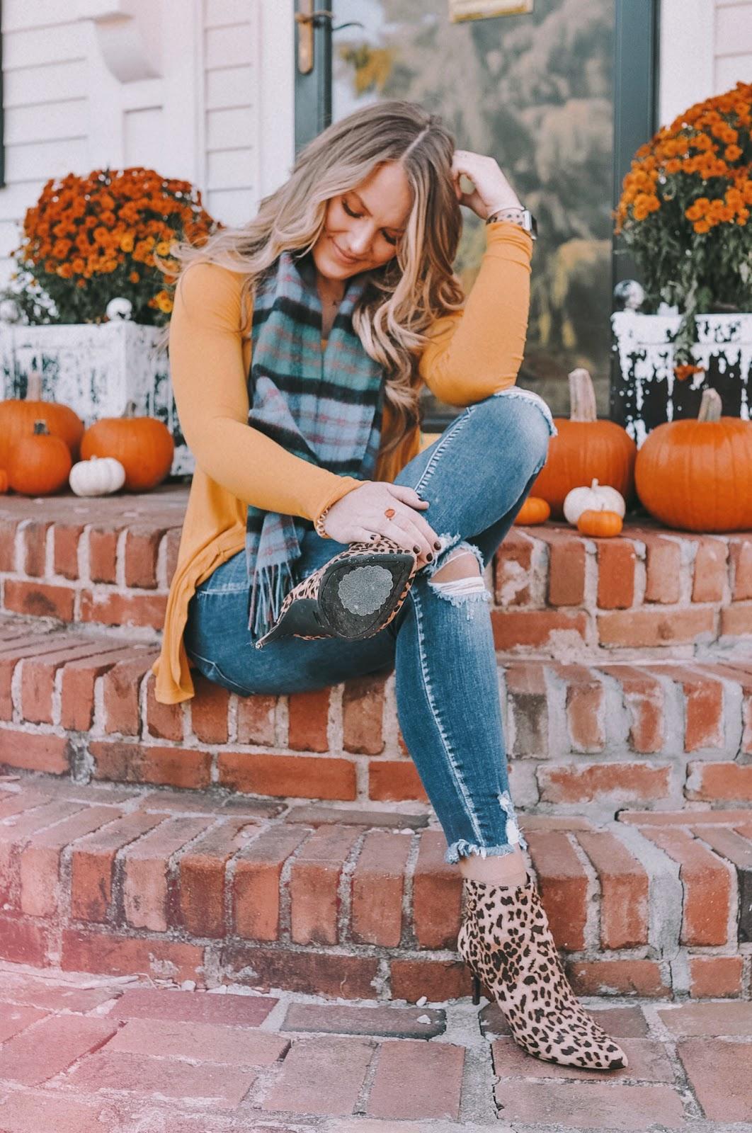 fall fashion roundup with OKC blogger Amanda's OK - plaid and leopard combo