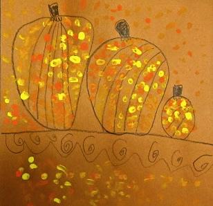 Angie Villa Art Education Easy Fall Elementary Art Lesson
