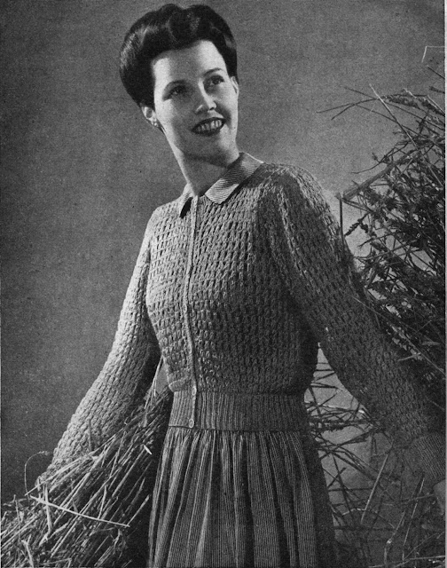 The Butterfly Balcony 1943 Needlework Illustrated September Beauty Free Knitting Pattern