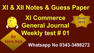 XI Commerce General Journal
