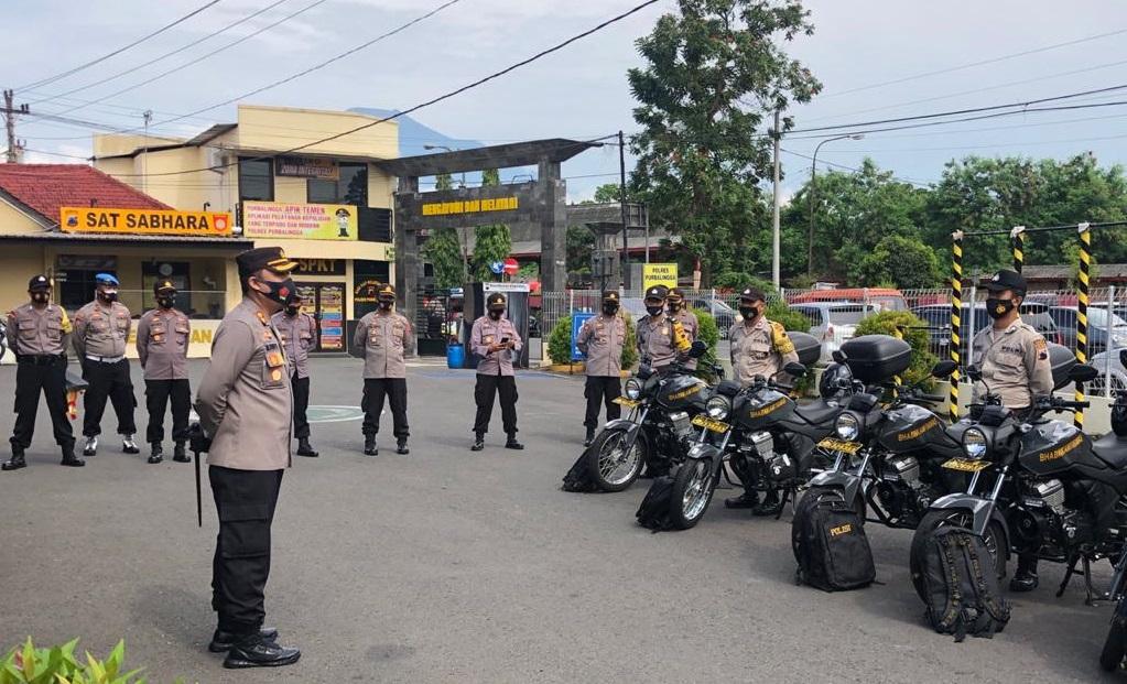 Terima Sepeda Motor Dinas, Bhabinkamtibmas Polres Purbalingga Dituntut Maksimalkan Tugas