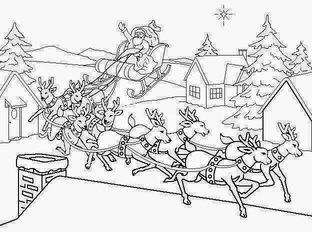 visit santas reindeer coloring pages - photo#7