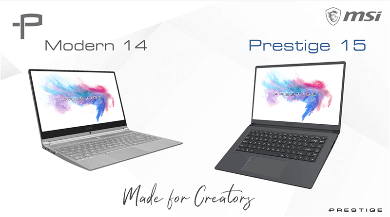MSI Modern 14 and Prestige 15