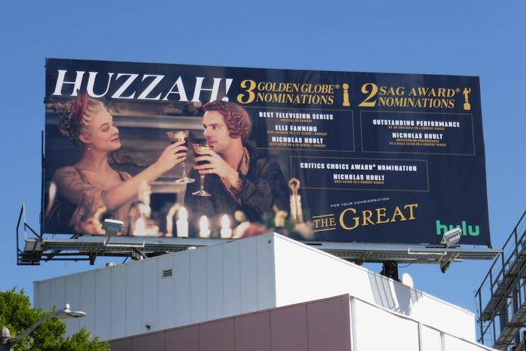 Great Huzzah awards nominee billboard