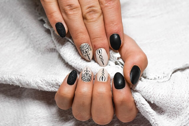 10 Best White  And Black Nail Art Designs of 2019
