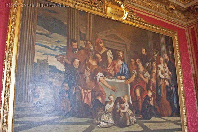 Palace of Versailles Pilgrims of Emmaus painting in Mars Drawing Room of King's State Apartment