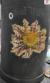 lechera pintada a mano