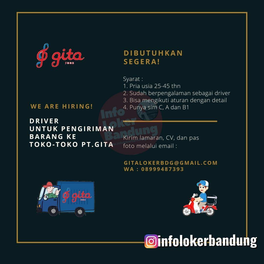 Lowongan Kerja PT. Gita Food Bandung Maret 2020
