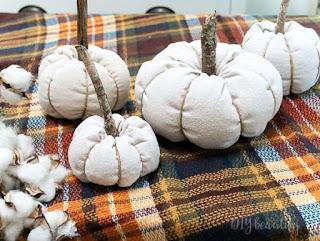 drop cloth pumpkins