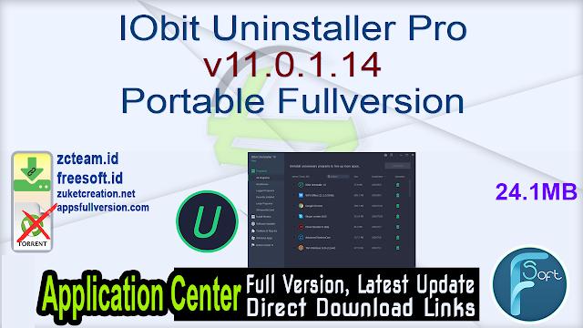 IObit Uninstaller Pro v11.0.1.14 Portable Fullversion