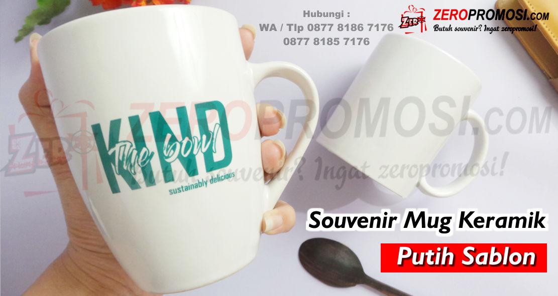 Mug Keramik putih, Mug Standar Keramik Murah, Mug Standar sablon, Mug keramik cetak logo, mug promosi murah, Mug hampers, Mug keramik custom murah