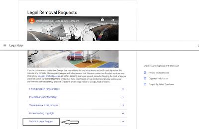 Google remove copyright content?
